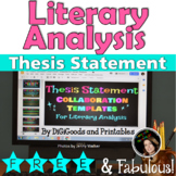 THESIS STATEMENT LITERARY ESSAY: COLLABORATION TEMPLATES: Google Classroom