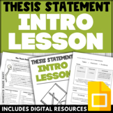 THESIS STATEMENT MINI LESSON Digital Thesis Worksheets Self-Assessment Checklist