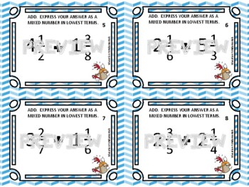 THIEF - ADDING MIXED NUMBERS - A Math Game