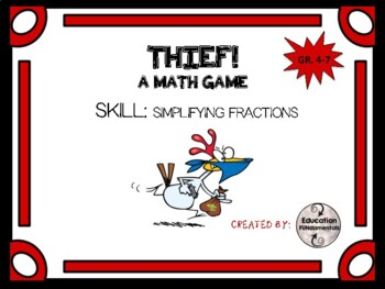 THIEF - SIMPLIFYING FRACTIONS - Math Game