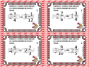 THIEF - SUBTRACTING MIXED NUMBERS - A MATH GAME