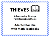 THIEVES: A Pre-reading Strategy Adapted for Use with Math Textbooks (Google Doc)