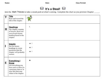 Thieves a pre reading strategy adapted for use with math textbooks thieves a pre reading strategy adapted for use with math textbooks google doc ccuart Images