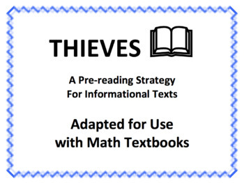 THIEVES: A Pre-reading Strategy Adapted for Use with Math