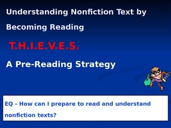 THIEVES Non-Fiction Pre-Reading Strategy