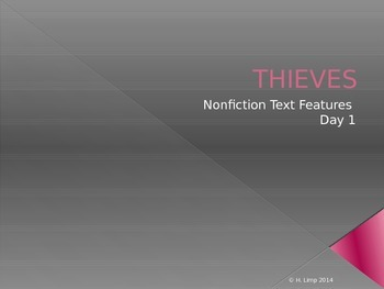 THIEVES (Nonfiction Text Features) PowerPoint