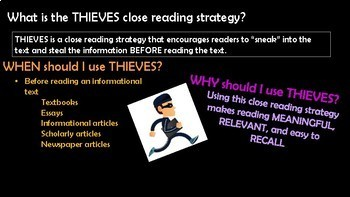 THIEVES PowerPoint and Notes Page