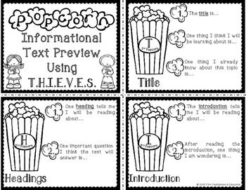 THIEVES Pre-Reading Popcorn Activity