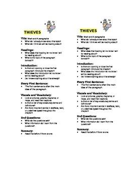 T.H.I.E.V.E.S. bookmark