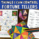 Top 50 THINGS I CAN CONTROL Fortune Tellers: School Counseling Lesson & Game