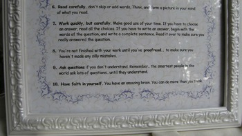 BEFORE SITTING DOWN at your desk; classroom management, daily routine;8x10 frame