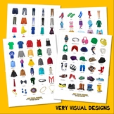 240 WHAT TO WEAR PHOTO CARDS clothing autism speech therapy pecs picture cards
