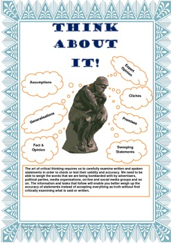 THINK ABOUT IT! A Guide To Critical Thinking