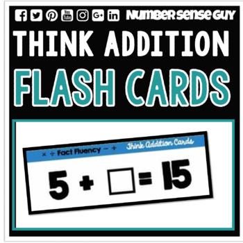 THINK ADDITION FLASH CARDS
