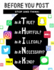 THINK Before You Post Poster Bundle