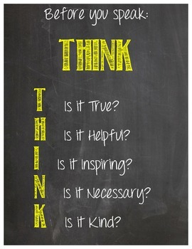 THINK Poster Chalkboard Edition- 5 Choices