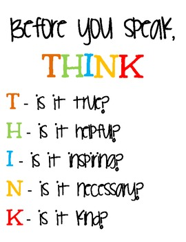 THINK Classroom Inspiration Sign {Freebie}!