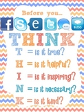 THINK Digital Citizenship Poster