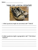 THINK LIKE A SOCIAL SCIENTIST! worksheet