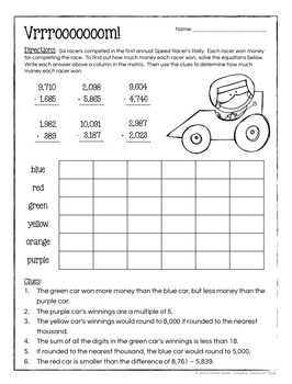 THINK! Math Enrichment Activities (grades 3-4)