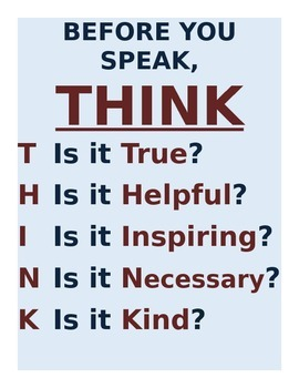 THINK Mini-Poster
