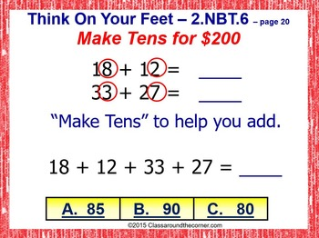 THINK ON YOUR FEET MATH! Interactive Test Prep Game—ADDING 2-DIGITS 2.NBT.6