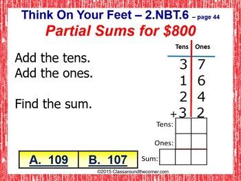 2.NBT.6 Interactive Test Prep Game - Jeopardy 2nd Grade Math: ADDING 2-DIGITS
