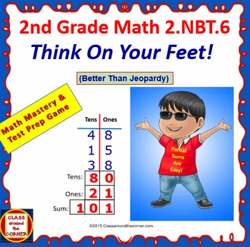THINK ON YOUR FEET MATH! Interactive Test Prep Game—ADDING