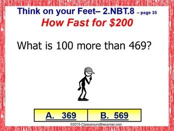 THINK ON YOUR FEET MATH! Interactive Test Prep Game—MENTAL MATH 2.NBT.8