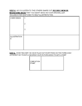 THINK PAIR SHARE BRAINSTORMING TEMPLATE