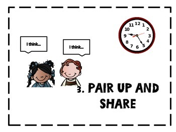 THINK-PAIR-SHARE posters