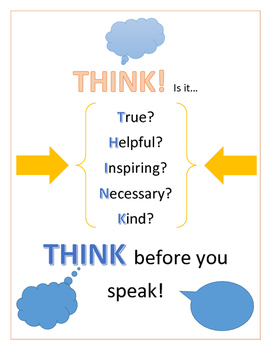 THINK Poster - Kindness and Respect