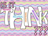 THINK Poster in Colorful Chevron with student THINK sheets
