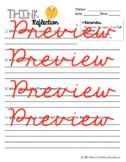 THINK Sheet - A Behaviour Reflection Form