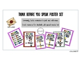 UPDATED THINK before you speak poster set (HP theme included)