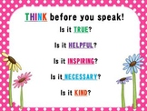 THINK before you speak!