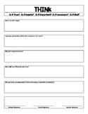 THINK behavior reflection sheet