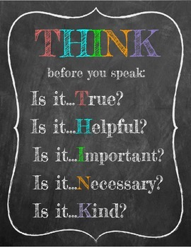 THINK classroom poster