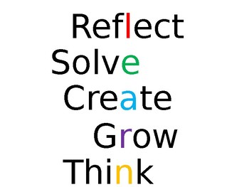 THINK reflective poster