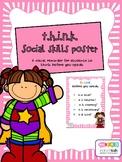 THINK social skills poster