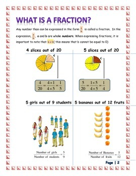THINKING ABOUT FRACTIONS