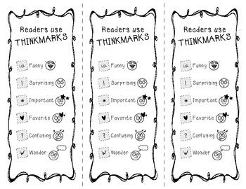 THINKMARKS Student Bookmarks