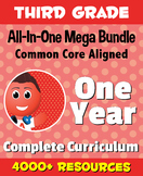 THIRD GRADE All-In-One *MEGA BUNDLE* {1 Year Complete Curriculum & CC Aligned}