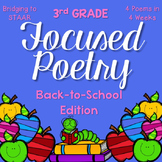 Focused Poetry 3rd Grade: Back-to-School Edition