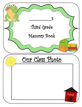 THIRD GRADE MEMORIES YEARBOOK AUTOGRAPH BOOK ~14 PAGE BOOK