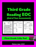 THIRD GRADE NO-PREP End of Year Reading Assessment (EOC)
