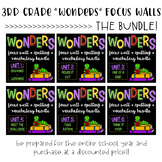 THIRD GRADE Reading Wonders Focus Wall and Word Cards: THE BUNDLE
