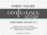 THIRD GRADE parent-teacher conference agenda (option #2!) :)