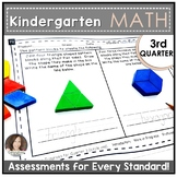 Kindergarten Math Assessments for THIRD QUARTER