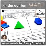 Kindergarten Math Assessments for THIRD QUARTER